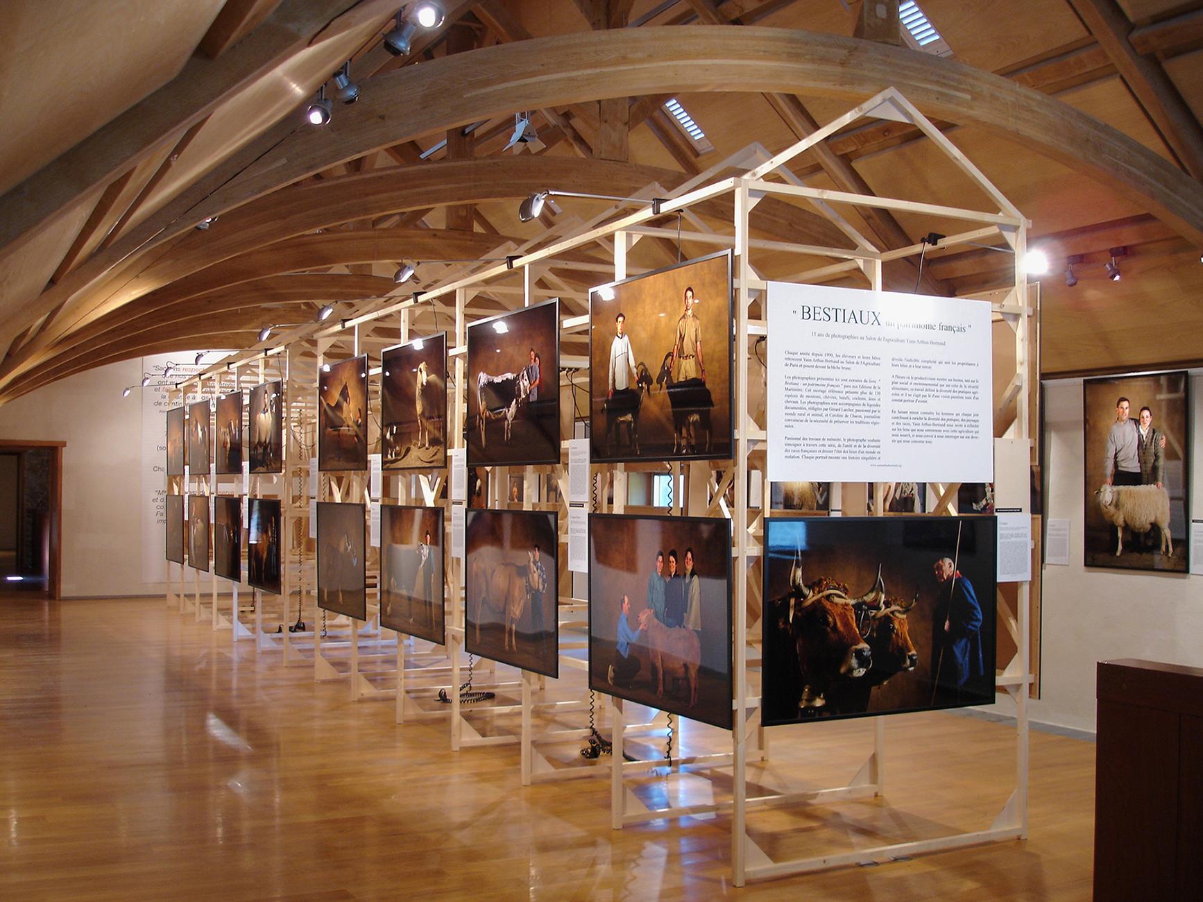 EXPOSITION YANN ARTHUS-BERTRAND Bestiaux Concept / Scénographie / M... 2002