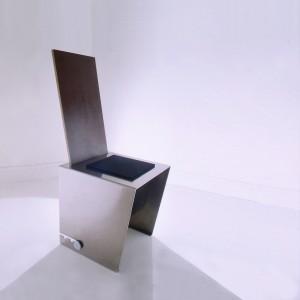 ERSATZ Chaise Aluminium, contreplaqué filmé 18 AOUT ( Be... 1988