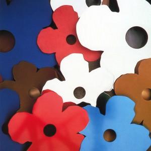 FLOWERS Vase Métal chromé et al... 1990