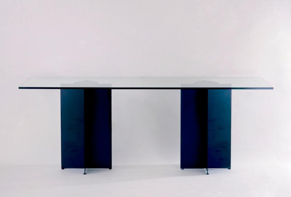 X Table  Métal bronzé et... 1987