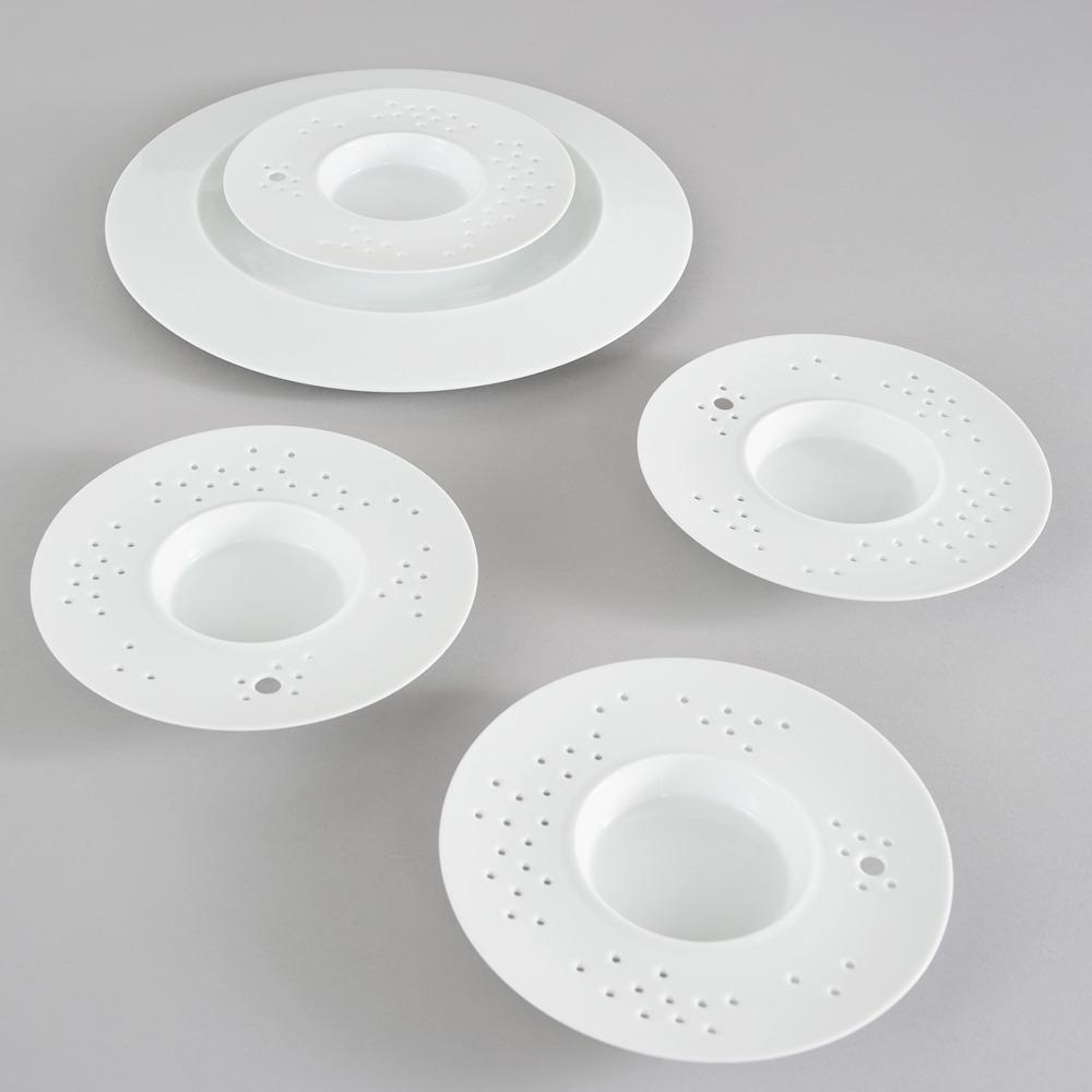 RESTAURANT GUY SAVOY Assiette vapeur Porcelaine Design: ... 2014