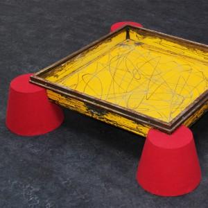 Y'A T-IL UNE VIE APRÈS LE DESIGN ? Table basse DKR Métal r... 1993